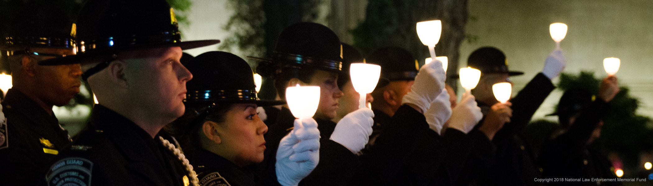 Candle light vigil - Copyright 2018 National Law Enforcement Memorial Fund